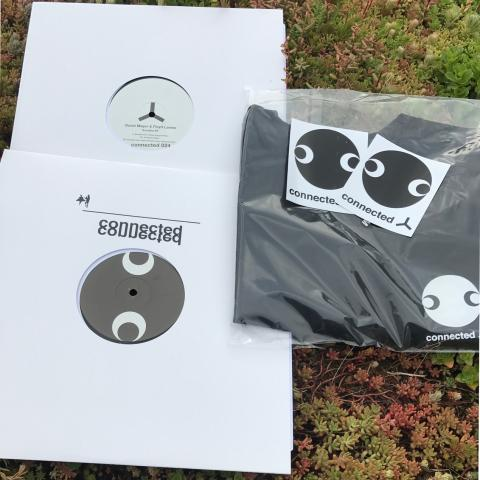 Special *  David Mayer & Floyd Lavine - Sondela Ep Vinyl and connected Face Logo T-Shirt and Stickers